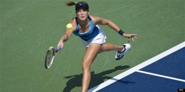 Les joueuses de tennis Stéphanie Dubois et Eugenie Bouchard gagnent en