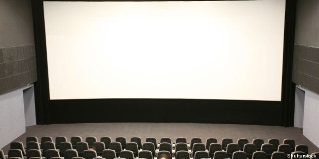 people in a modern cinema