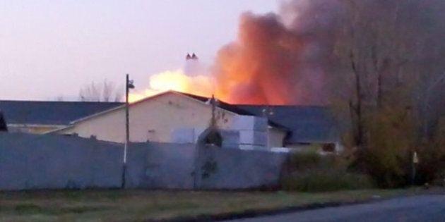 Explosion dans une usine de produits chimiques de