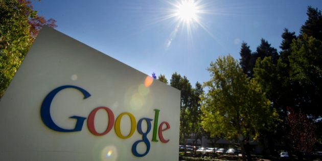 Google Inc. signage is displayed in front of the company's headquarters in Mountain View, California,...
