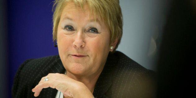 Pauline Marois, premier of Quebec, speaks during an interview in New York, U.S., on Thursday, Dec. 13,...