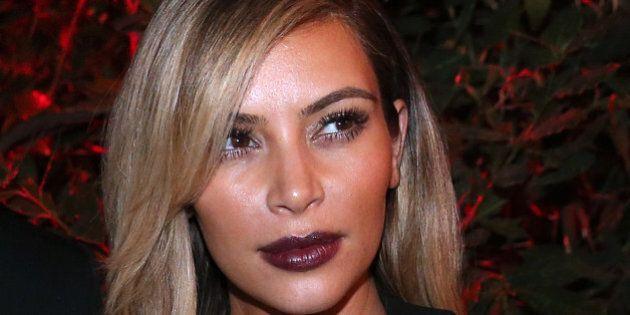 US socialite Kim Kardashian attends the 'Mademoiselle C' cocktail party at the Pavillon Ledoyen on October...