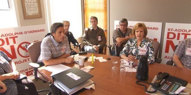 Des villageois des Laurentides veulent bloquer un projet