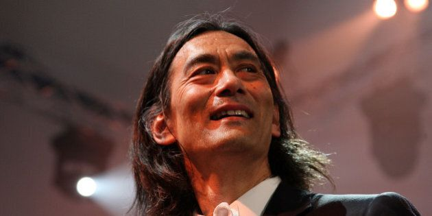 MUNICH, GERMANY - MAY 18: Conductor Kent Nagano as seen on stage during the Ball der Kuenste at Haus...