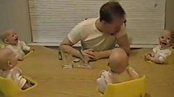 Avez-vous déjà entendu des bébés quadruplés rire en même temps?