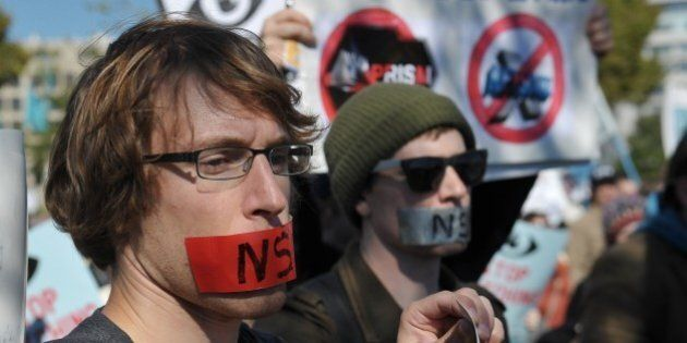 «Débranchez Big Brother»: manifestation contre la NSA à