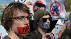 Manifestation contre la NSA à