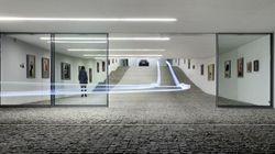Une galerie d'art... et l'entrée d'un garage