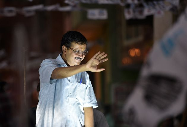 Delhi CM Arvind Kejriwal in a file photo from the campaign trail for the 2019 Lok Sabha