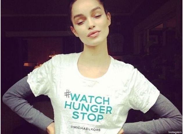 Michael Kors s'associe avec des mannequins pour lutter contre la faim dans le monde