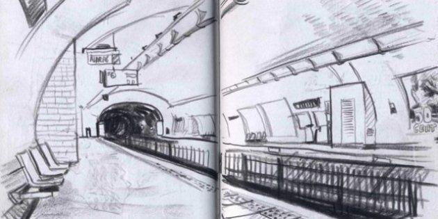 Paris: le métro croqué ligne par ligne