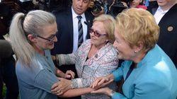 Pauline Marois rencontre la mairesse de