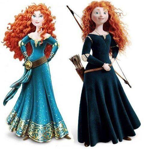 Disney: le nouveau look de Mérida, héroïne du dessin animé Rebelle, fait