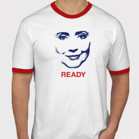 Un t-shirt de campagne d'Hillary Clinton fait