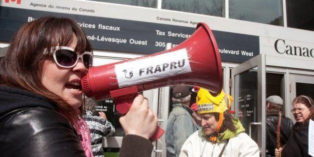 Le FRAPRU manifeste contre les coupes fédérales dans le logement