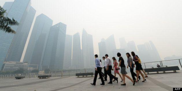 Pollution record à Singapour