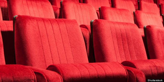 empty red seats for cinema ...