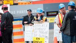 Construction: les travailleurs en grève