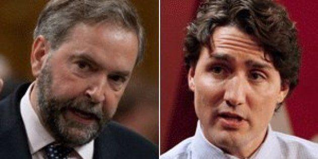 Taux de satisfaction: Mulcair perd des points et est devancé par Trudeau et Harper, selon un