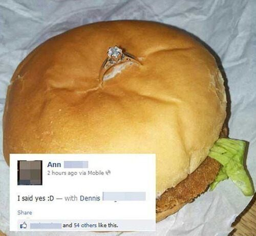 La pire demande en mariage: il met la bague dans un