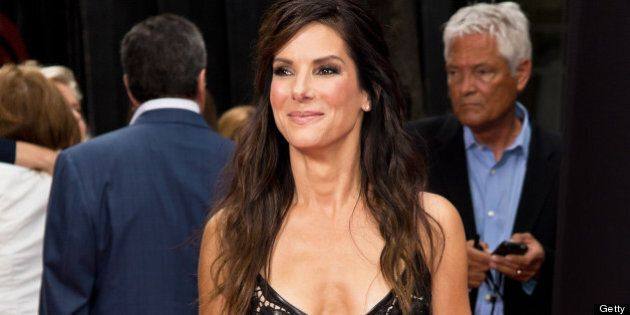 NEW YORK, NY - JUNE 23: Actress Sandra Bullock attends 'The Heat' premiere at the Ziegfeld Theatre on...
