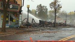 Saint-Donat :un incendie criminel