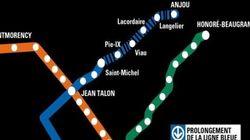 La ligne bleue du métro de Montréal prolongée vers