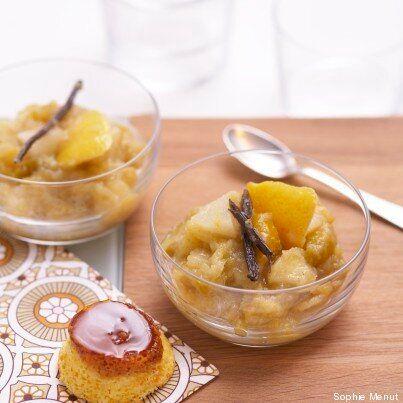 Vite fait, bien fait: compote aux fruits du verger et gâteau à