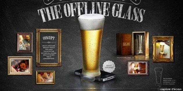 Le «verre hors-ligne» permet de se libérer de son téléphone intelligent dans les bars