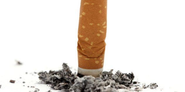 cigarette butt on