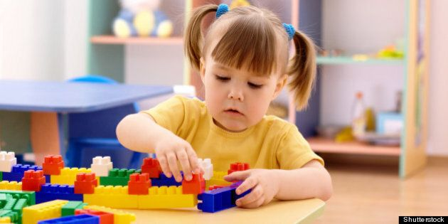 cute little girl play