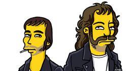 Les stars transformées en Simpsons