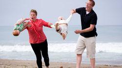 Une photo de famille avec un résultat