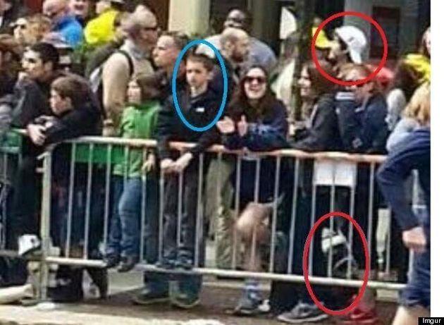 Attentat au marathon de Boston: une photo montre un suspect et une victime. Réelle ou