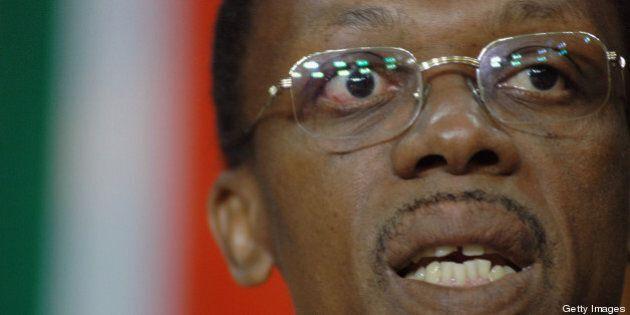 PRETORIA, SOUTH AFRICA ? JUNE 7: Jean Bertrand Aristide, the former dictator of Haiti, who was deposed...