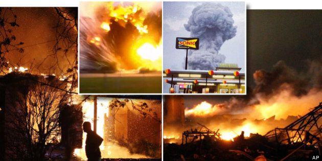 L'explosion de l'usine à West au Texas a fait au moins 12 morts (PHOTOS,