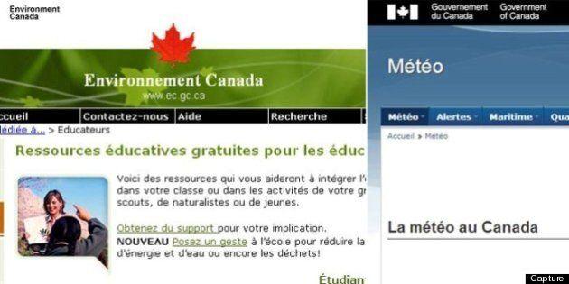 Les mots «Environnement Canada» sont rayés du site météo du gouvernement