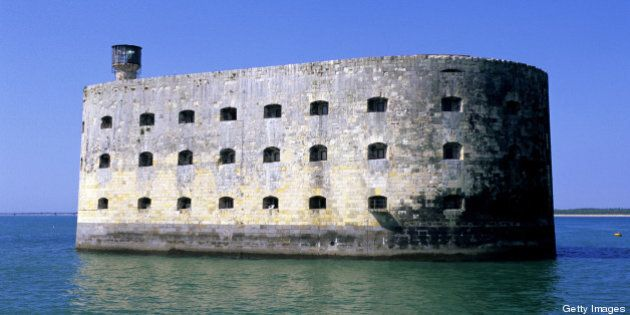 Historical Fort Boyard in Charente Maritime, France