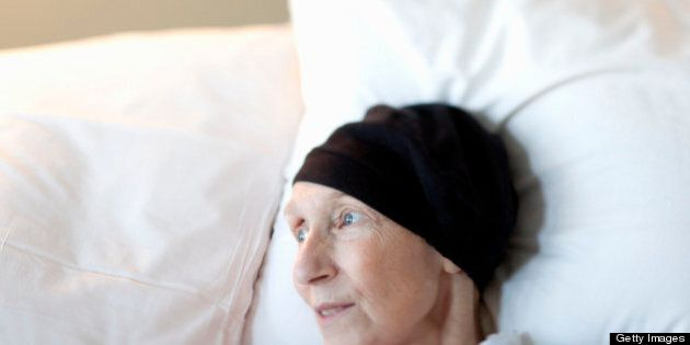 Sixty-three year old woman with brain cancer in hospice