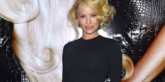 NEW YORK, NY - APRIL 15: Pamela Anderson attends the International Beauty Show at the Javits Center on...