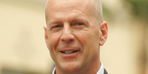 bruce willis at the ceremony...