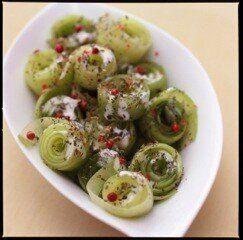 Vite fait, bien fait: salade de concombres au poivre