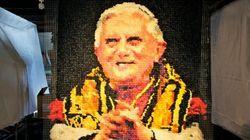 Un portrait de Benoît XVI ... fait avec 17 000