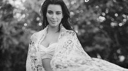 Kim Kardashian pose enceinte
