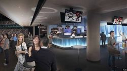 Amphithéâtre de Québec : un intérieur en bleu et