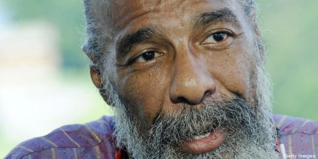 BETHEL, NY - AUGUST 14: Richie Havens performs during the 40th Anniversary of Woodstock at the Bethel...
