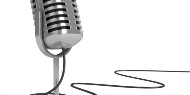 microphone 3d illustration - radio microphone with