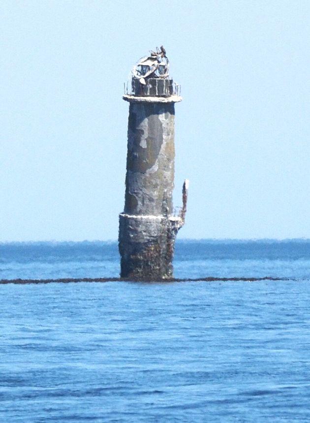 北方領土にある貝殻島灯台(2019年4月28日撮影)