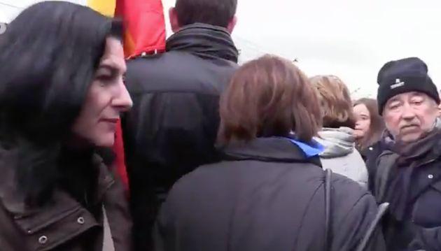 Dolores Delgado, ministra de Justicia en funciones, se marcha tras una alusión a los