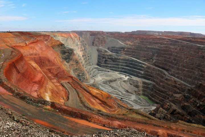 The Fimiston Open Pit gold mine in Western Australia. Land use change – including mining, logging and agriculture &ndas